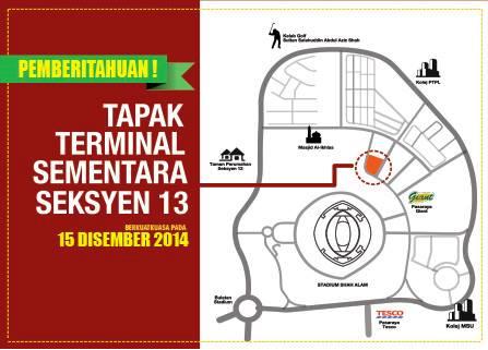 Terminal Bas Sementara Shah Alam Seksyen 13