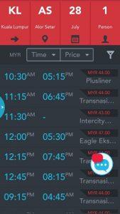 Pilih Masa Dan Bas Express