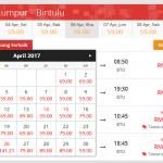 Harga Tiket Flight KL Ke Bintulu Tambang Murah
