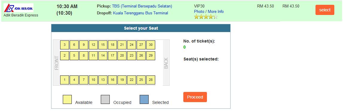 Adik Beradik Express Seat