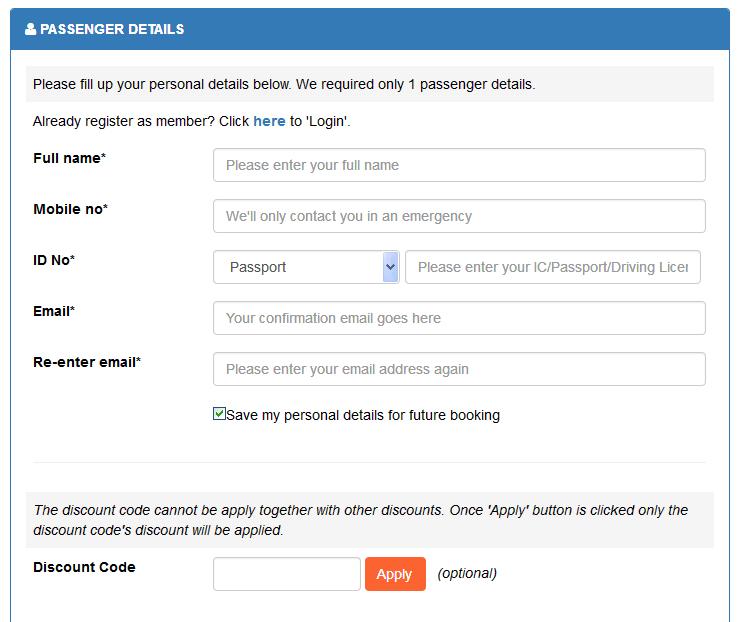 cara beli tiket bas online cara membayar