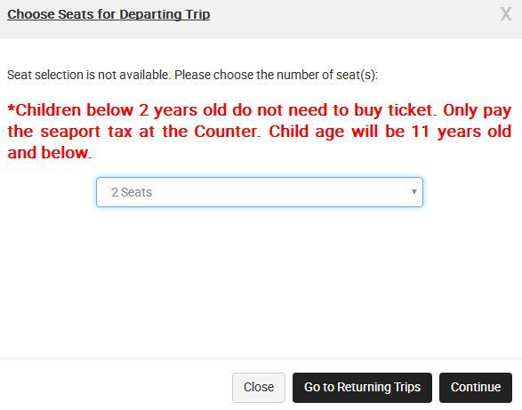 select seat jb to batam ferry